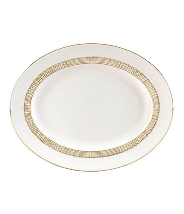 Image of Vera Wang by Wedgwood Gilded Weave Oval Platter
