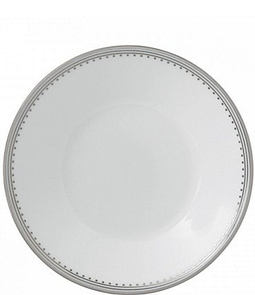 Image of Vera Wang by Wedgwood Grosgrain Striped & Dotted Platinum Bone China Saucer