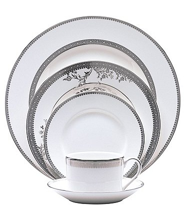 Image of Vera Wang by Wedgwood Lace Platinum 5-Piece Place Setting