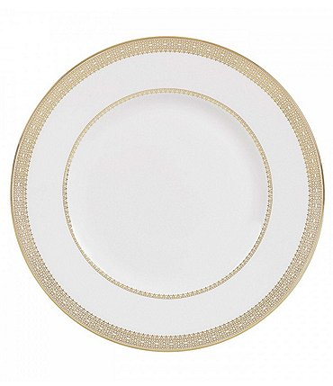 Image of Vera Wang by Wedgwood Vera Lace Gold China Accent Salad Plate