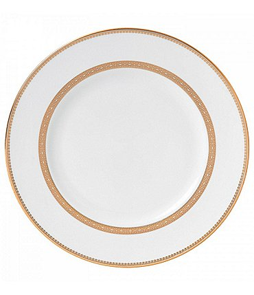 Image of Vera Wang by Wedgwood Vera Lace Gold China Dinner Plate