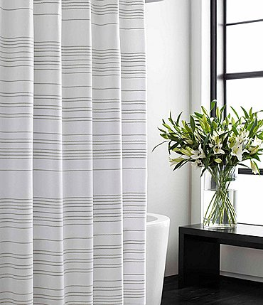 Image of Vera Wang Irregular Stripe Shower Curtain