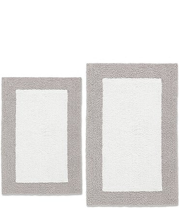 Image of Vera Wang Pure Serenity Organic Reversible 2-Piece Bath Rug Set
