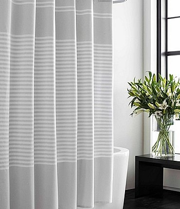 Image of Vera Wang Seersucker Stripe Shower Curtain