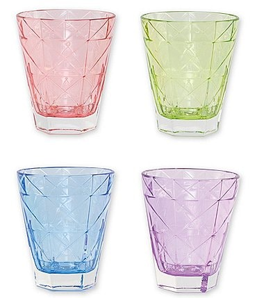 Image of VIETRI Prism Assorted Short Tumblers Set of 4