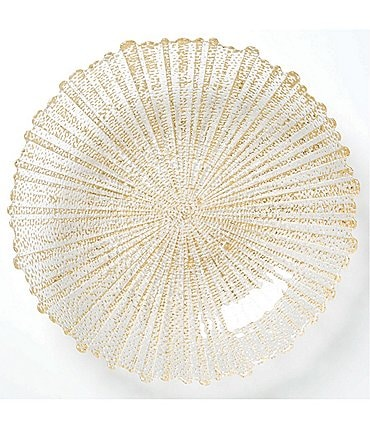 Image of VIETRI Rufolo Glass Gold Large Serving Bowl