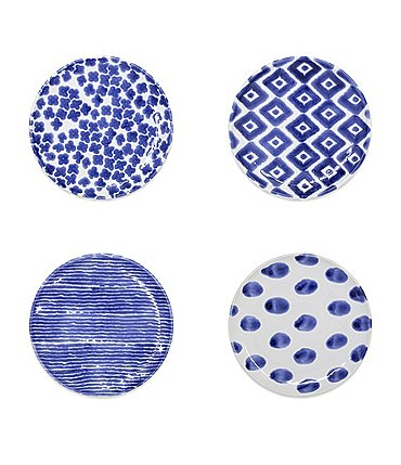 Image of VIETRI Santorini Assorted Cocktail Plate Set of 4