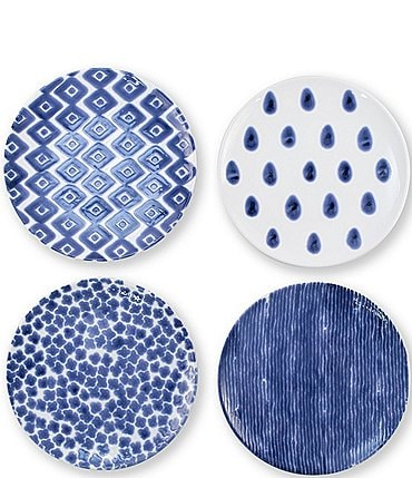 Image of VIETRI Santorini Assorted Salad Plates Set of 4