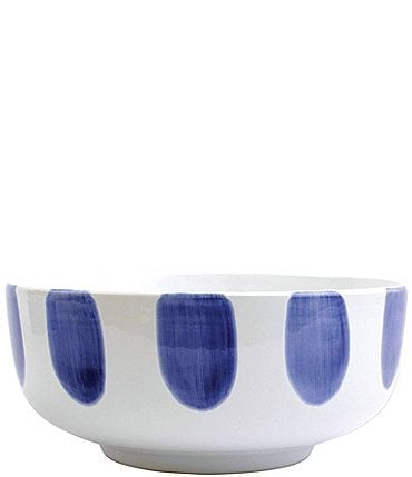Image of VIETRI Santorini Dot Large Footed Serving Bowl