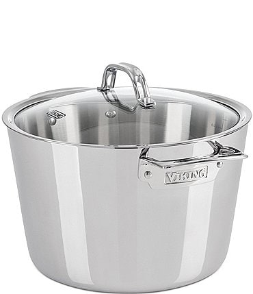 Image of Viking Contemporary 3-Ply Stainless Steel 8.0-Quart Stock Pot with Lid