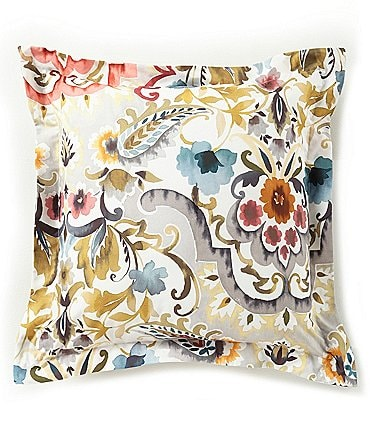 Image of Villa by Noble Excellence Liana Floral Jacquard Square Pillow