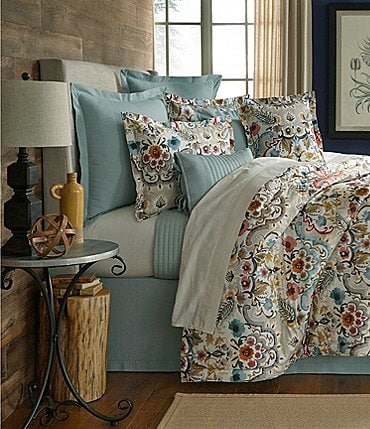 Image of Villa by Noble Excellence Liana Floral Percale Comforter Mini Set