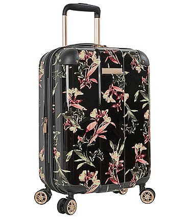 Image of Vince Camuto Kellsey Black Lilies Carry-On Hardside Spinner