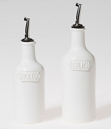 Image of Viva by VIETRI Fresh Glazed Stoneware Oil & Vinegar Set