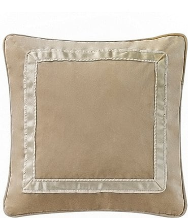 Image of Waterford Ansonia Ribbon-Framed Velvet Square Pillow