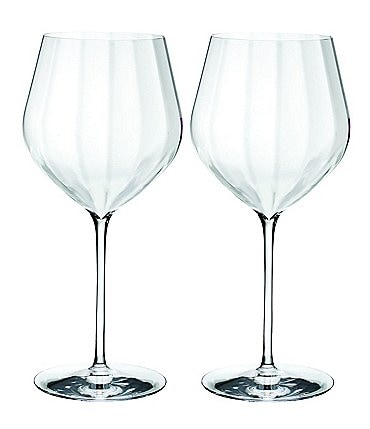 Image of Waterford Crystal Elegance Optic Cabernet Sauvignon Stemware, Set of 2