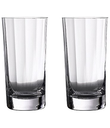 Image of Waterford Crystal Elegance Optic Highball Glasses, Set of 2