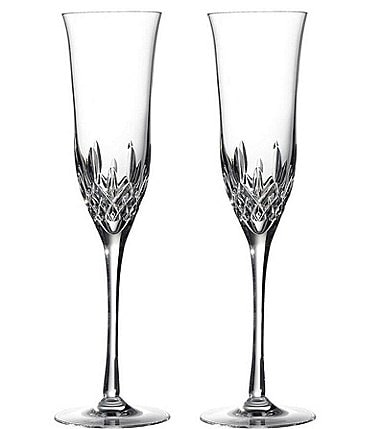 Image of Waterford Crystal Lismore Essence Champagne Flute Pair
