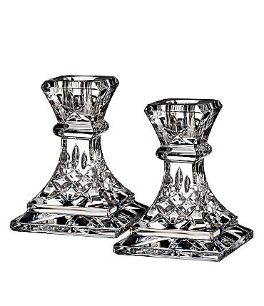 Image of Waterford Crystal Lismore Candlestick Pair, 4""