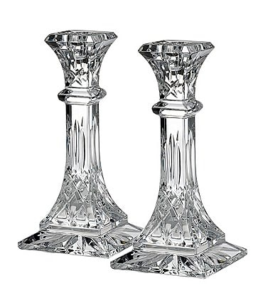Image of Waterford Crystal Lismore Candlestick Pair, 8""