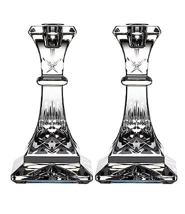 Image of Waterford Crystal Lismore Candlestick, Set of 2