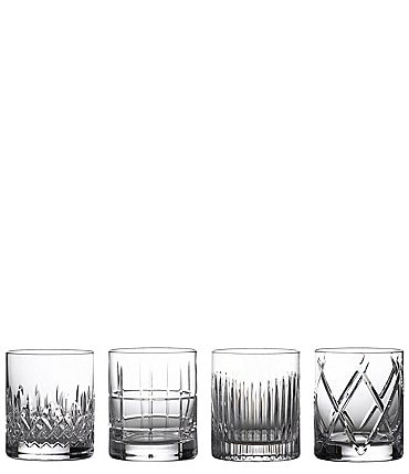 Image of Waterford Crystal Short Stories Double Old-Fashion Mixed Glasses, Set of 4
