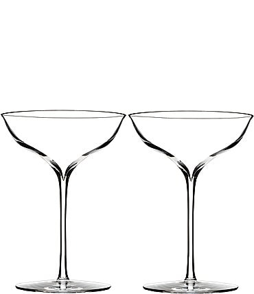 Image of Waterford Elegance Crystal Champagne Belle Coupe Pair