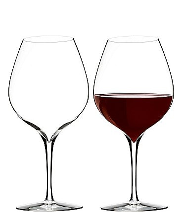 Image of Waterford Elegance Series Crystal Merlot Wine Glass Pair
