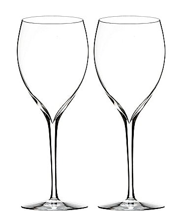 Image of Waterford Elegance Series Crystal Sauvignon Blanc Wine Glass Pair