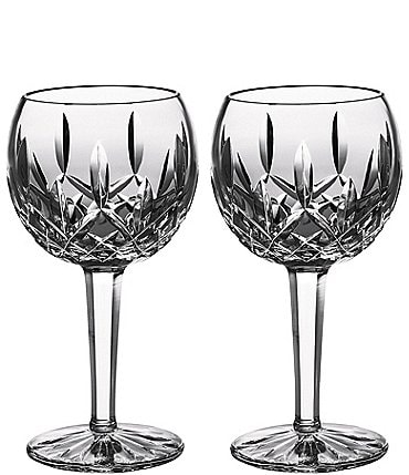 Image of Waterford Lismore Classic Balloon Wine Glass Pair