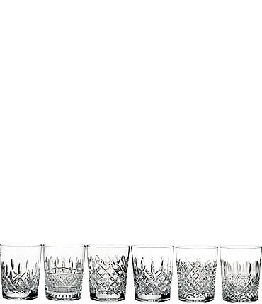 Image of Waterford Lismore Connoisseur 6-Piece Heritage Crystal Double Old Fashioned Glass Set