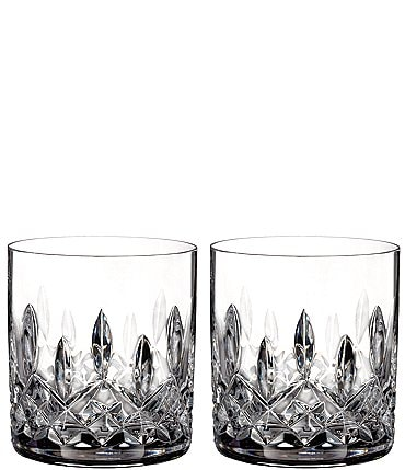 Image of Waterford Lismore Crystal Straight Tumbler Pair