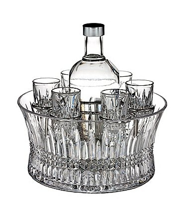 Image of Waterford Lismore Diamond Crystal Vodka Chiller Set