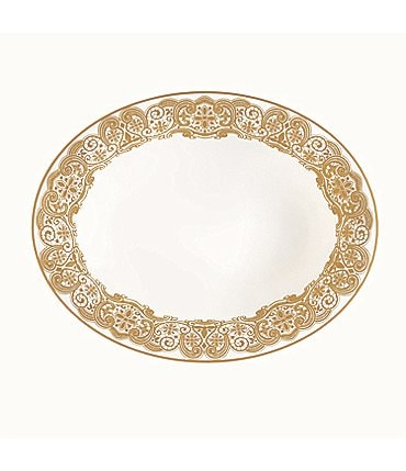 Image of Waterford Lismore Lace Gold Bone China Vegetable Bowl