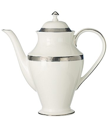 Image of Waterford Newgrange Platinum Celtic Scroll Bone China Coffeepot