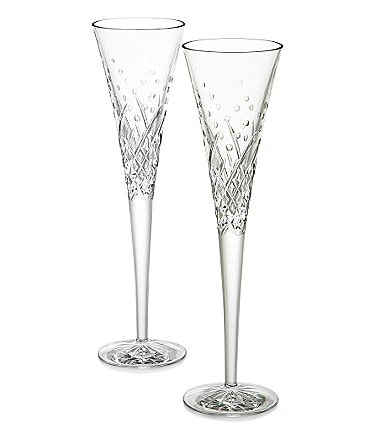 Image of Waterford Wishes Happy Celebrations Crystal Flute Pair