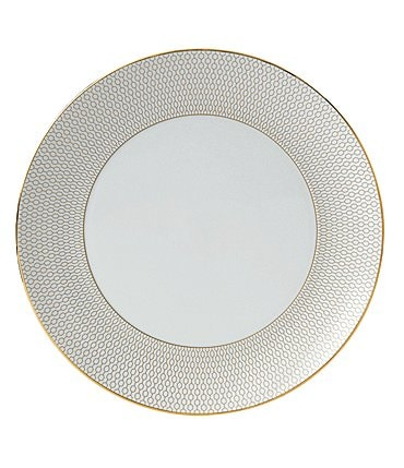 Image of Wedgwood Arris Geometric Bone China Dinner Plate