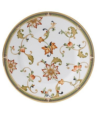 Image of Wedgwood Oberon Chinoiserie Vine & Floral Gold Bone China Accent Salad Plate