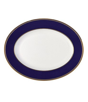 Image of Wedgwood Renaissance Gold Neoclassical Oval Platter