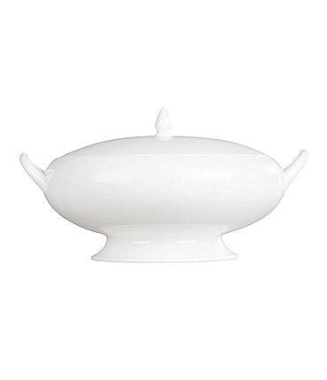 Image of Wedgwood White Bone China Covered Vegetable Bowl
