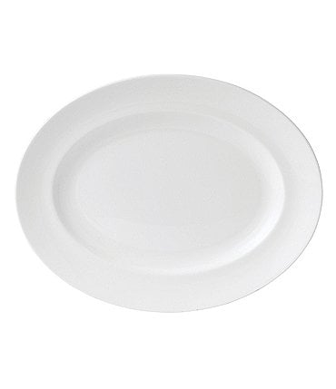 Image of Wedgwood White Bone China Oval Platter