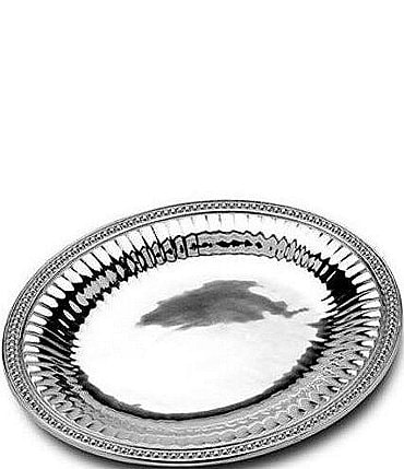 Image of Wilton Armetale Flutes & Pearls Oval Tray
