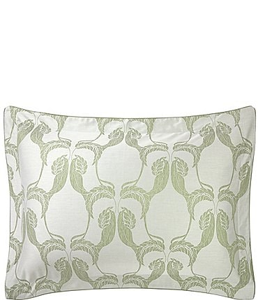 Image of Yves Delorme Complice Foliage and Birds interplay Damask Sham