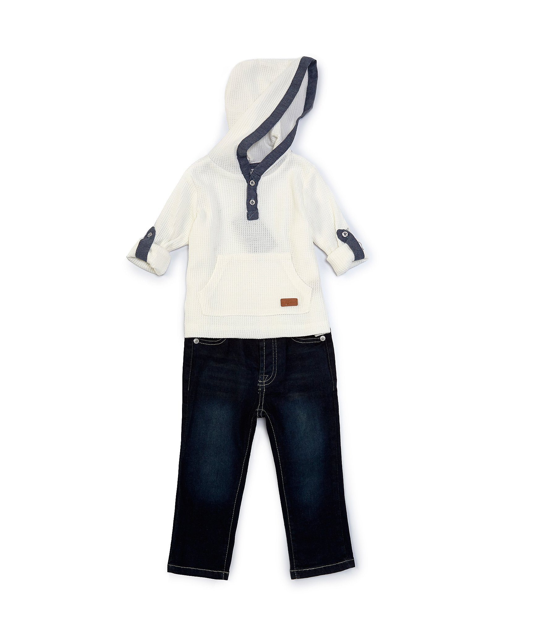 Hobart Paradoja Museo Guggenheim  7 for all mankind Baby Boys 12-24 Months Long-Sleeve Hooded Henley Tee & Denim  Jeans Set | Dillard's