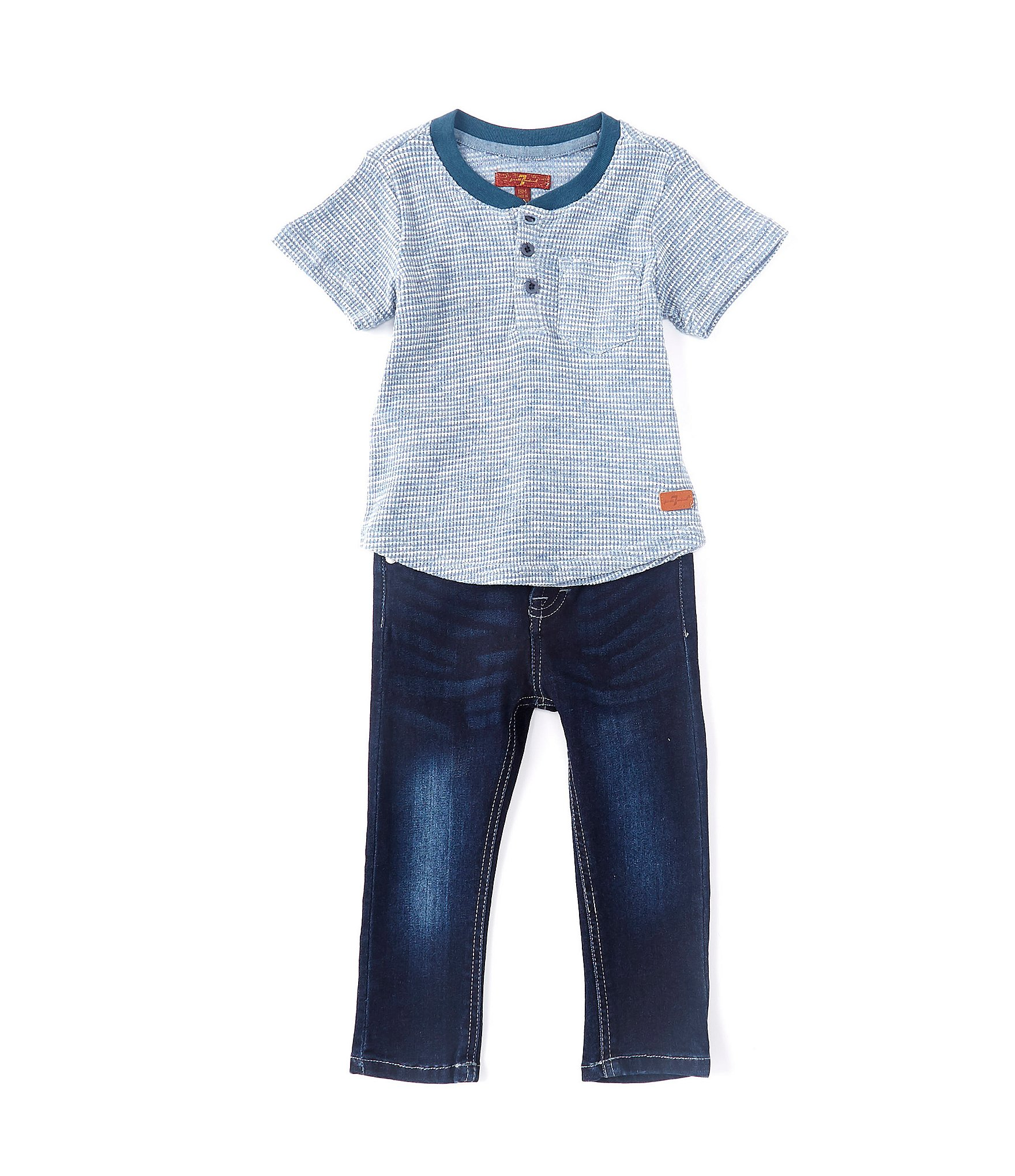 canto Rafflesia Arnoldi Proceso  7 for all mankind Baby Boys 12-24 Months Short-Sleeve Henley Tee & Denim  Jean Set | Dillard's