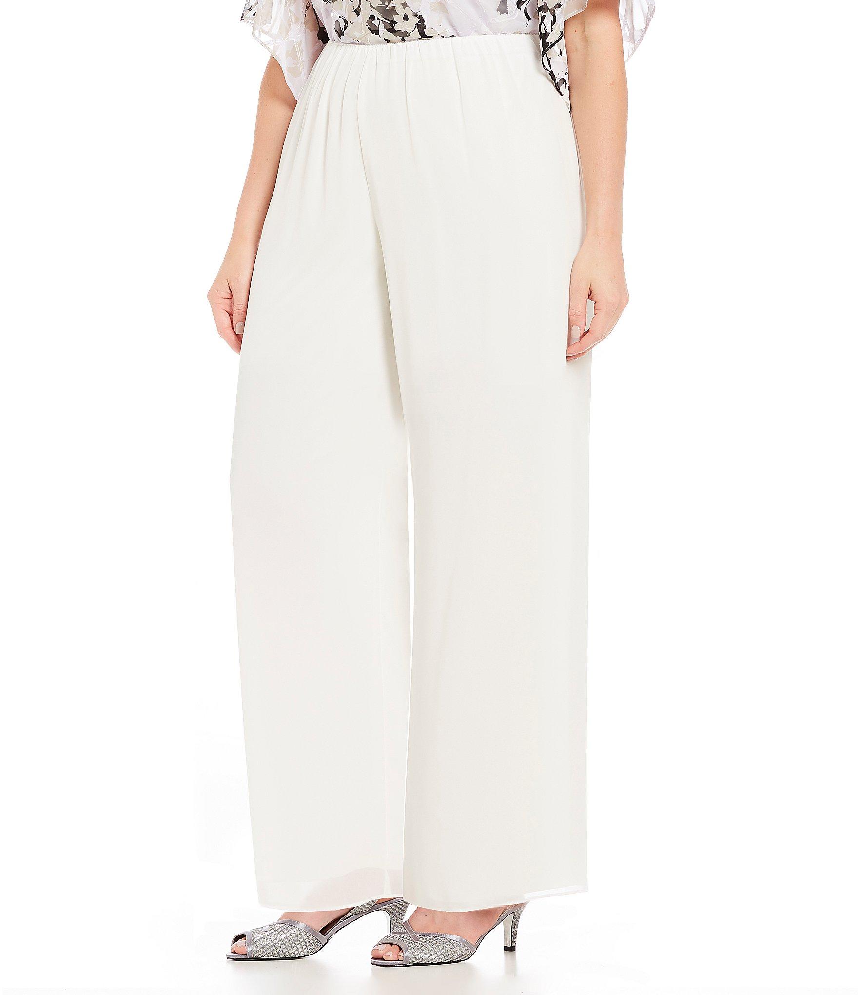 510a6e125da Alex Evenings   Ivory Women s Plus-Size Wide Leg Pants