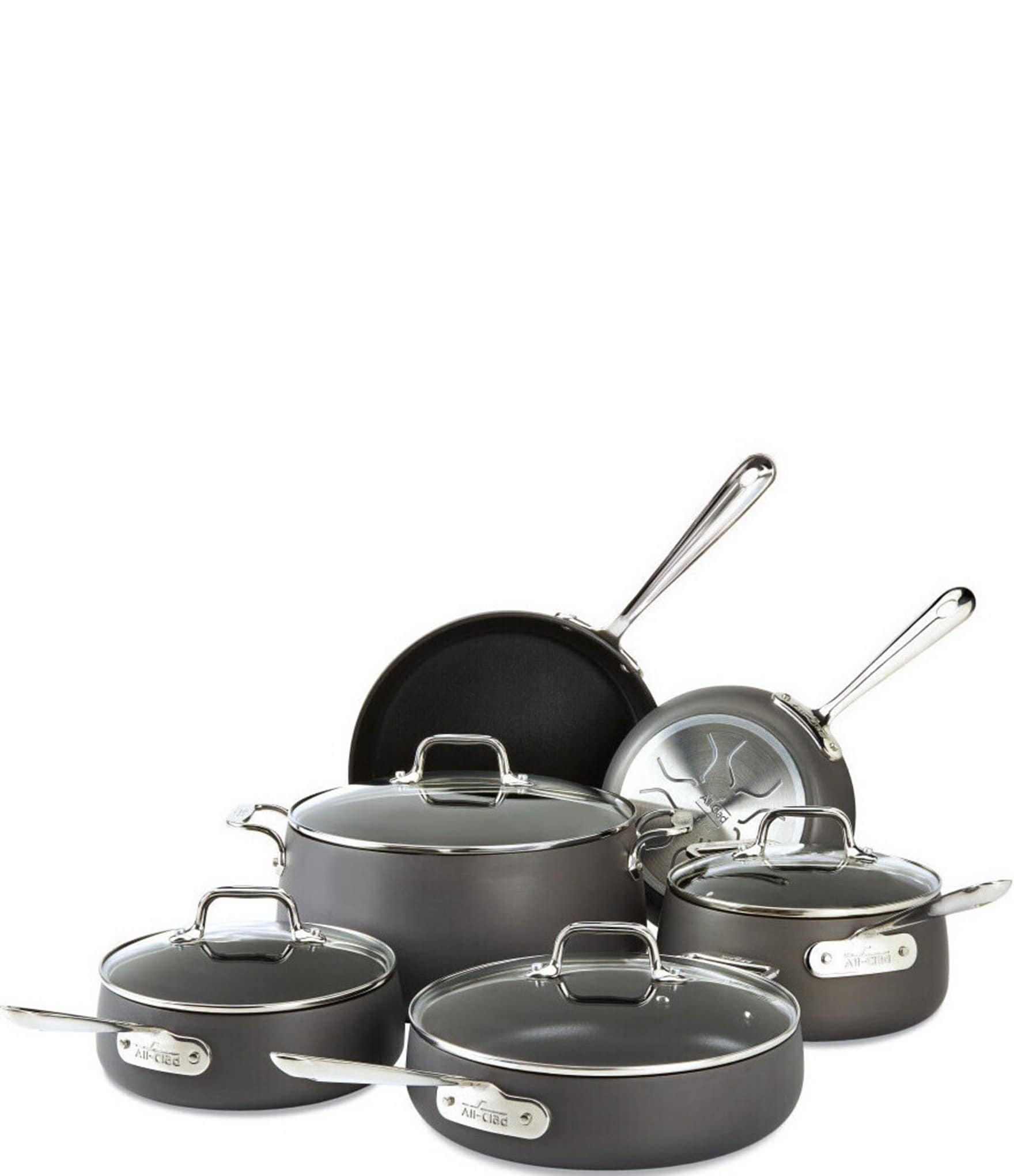 All Clad Ha1 Hard Anodized Nonstick 10 Piece Cookware Set