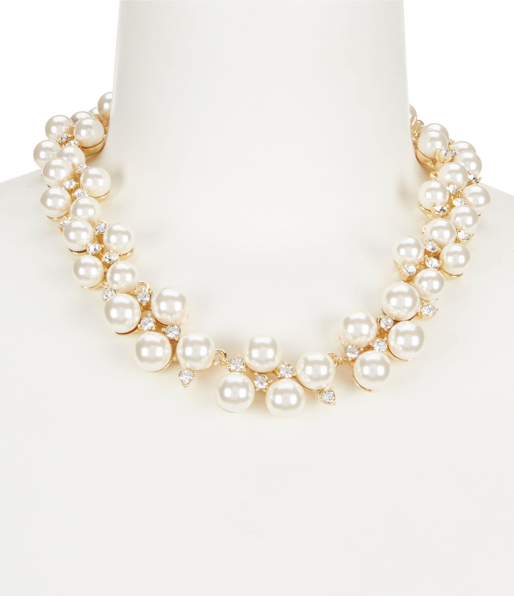 38f66ac0247b6 Anne Klein Faux-Pearl Collar Statement Necklace
