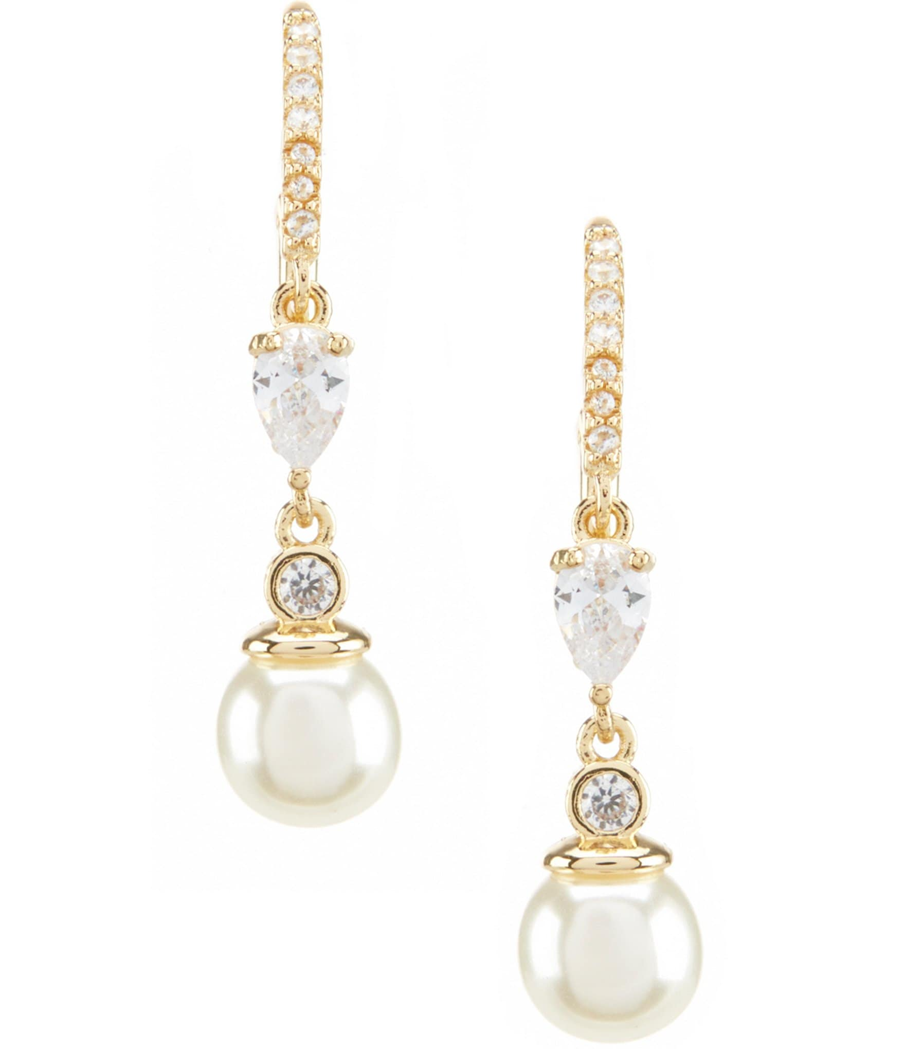 Anne Klein Faux Pearl Drop Earrings