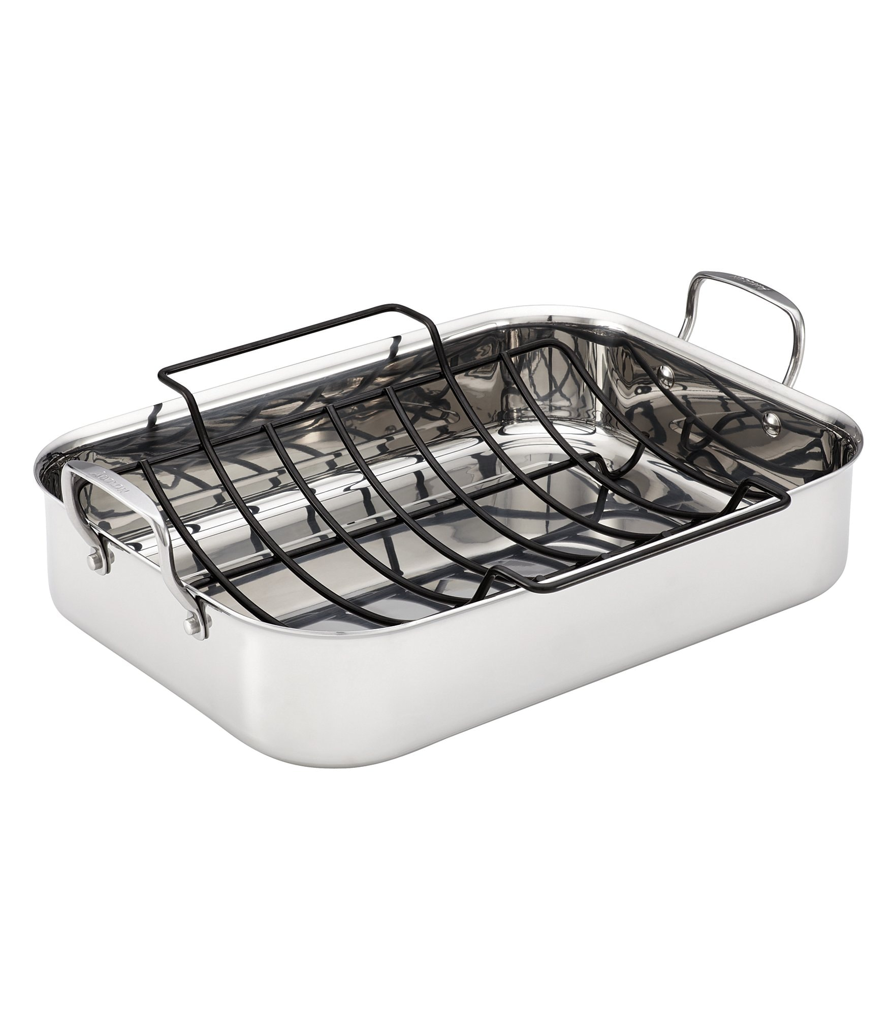 Anolon Tri Ply Clad Stainless Steel Roaster With Nonstick